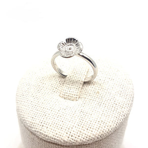 Poppy Ring - White Gold Plated