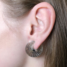 Coral Wrap Earrings - White Gold Plated