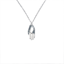 Antwerp Hand Necklace - White Gold Plated