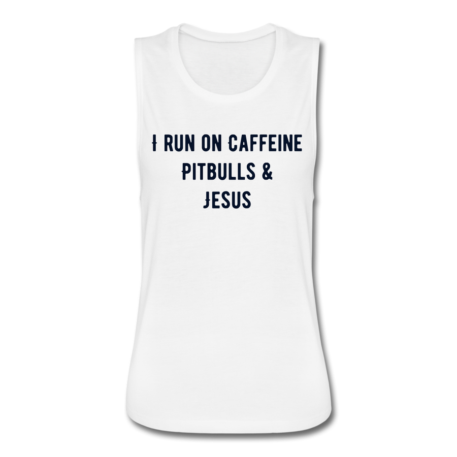 I Run On Caffeine, Pitbull & Jesus - heather gray