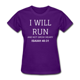 Isaiah 40:31 Women's T-Shirt - purple