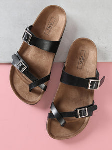 Double Buckle Strap Sandal