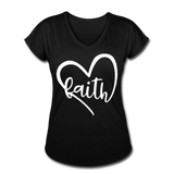 Faith Tri-Blend V-Neck T-Shirt - black