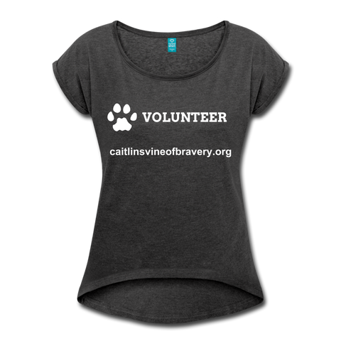 VOLUNTEER Women's Roll Cuff T-Shirt - heather black