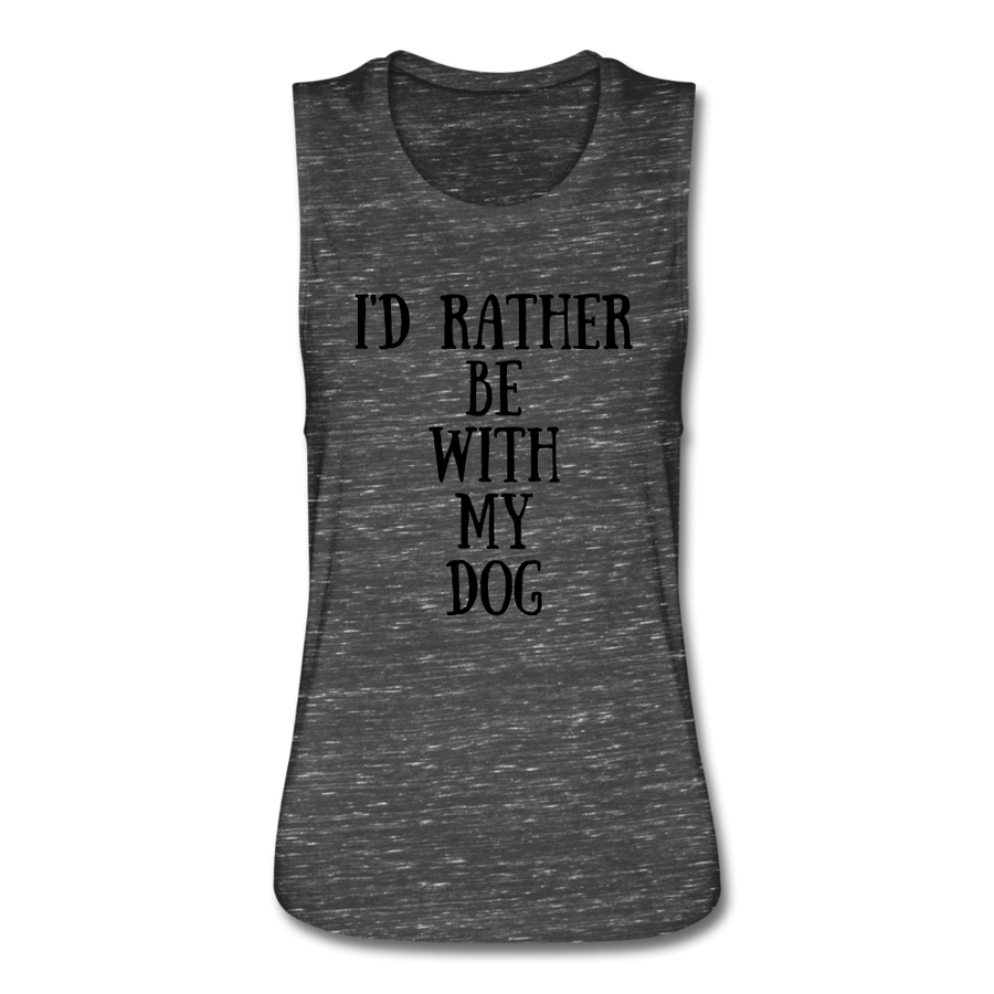 I'd rather be with my dog - heather gray
