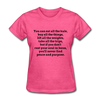 All the things Women's T-Shirt T-Shirt - heather pink