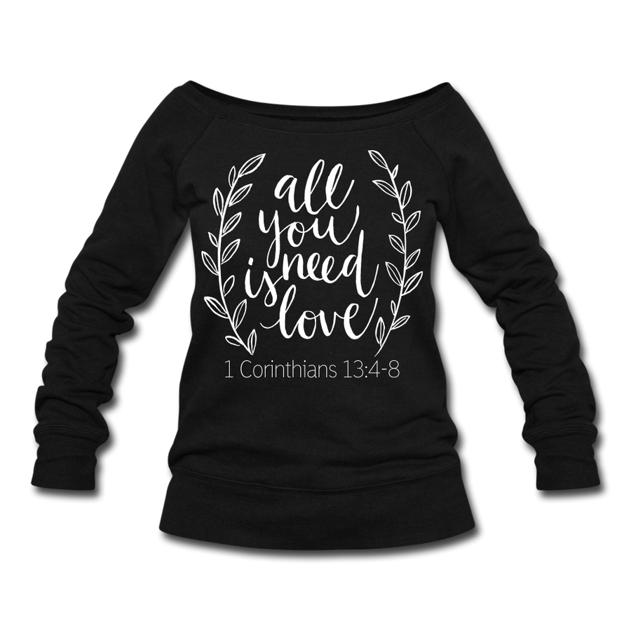 All You Need Is Love Wideneck Sweatshirt - heather Blue