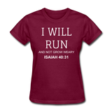 Isaiah 40:31 Women's T-Shirt - burgundy