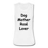 Dog Mother Rose Lover Women's Flowy Muscle Tank by Bella - white