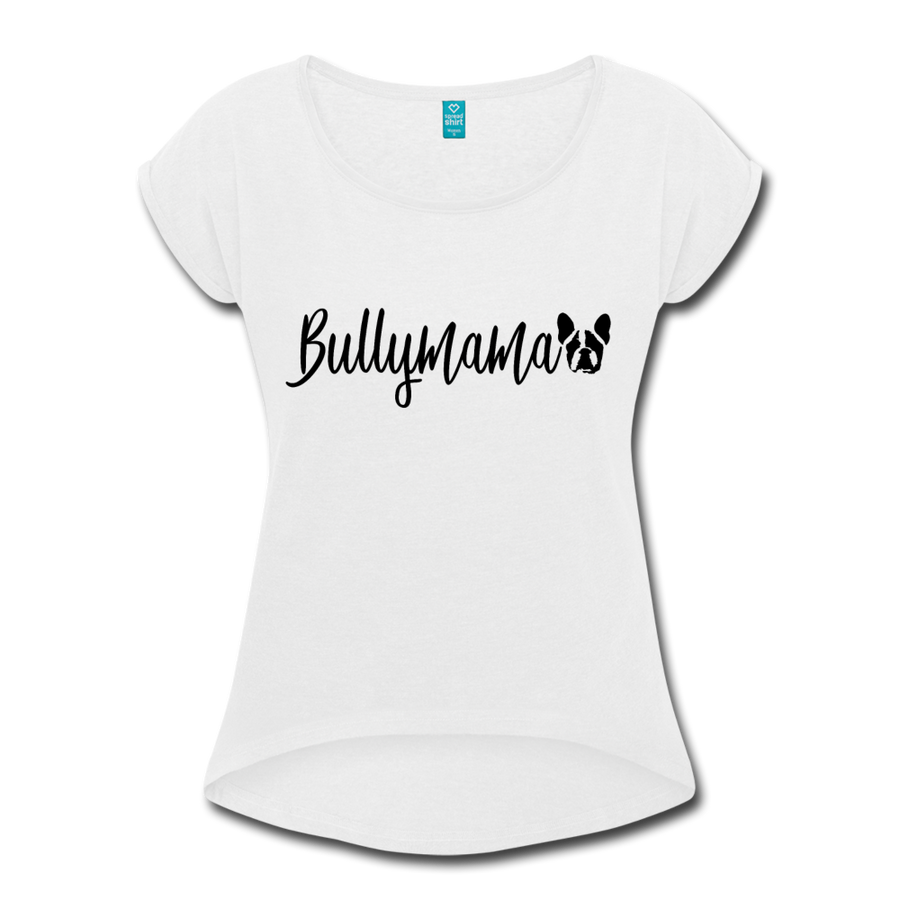 Bully Mama Women's Roll Cuff T-Shirt - heather gray