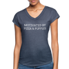 Motivated By Pizza & Puppies - navy heather