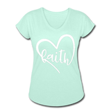 Faith Tri-Blend V-Neck T-Shirt - mint