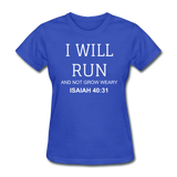 Isaiah 40:31 Women's T-Shirt - royal blue