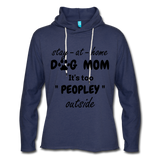 Stay at home Dog Mom Unisex Light weight Terry Hoodie - heather navy