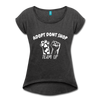 ADOPT DON'T SHOP Women's Roll Cuff T-Shirt - heather black