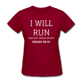Isaiah 40:31 Women's T-Shirt - dark red