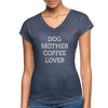 Dog Mother Coffee Lover - navy heather