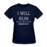 Isaiah 40:31 Women's T-Shirt - navy
