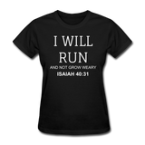 Isaiah 40:31 Women's T-Shirt - black