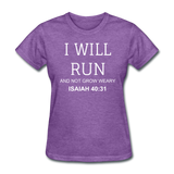 Isaiah 40:31 Women's T-Shirt - purple heather