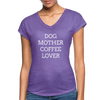 Dog Mother Coffee Lover - purple heather