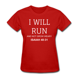 Isaiah 40:31 Women's T-Shirt - red