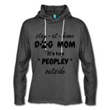 Stay at home Dog Mom Unisex Light weight Terry Hoodie - charcoal gray