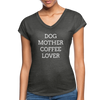 Dog Mother Coffee Lover - deep heather