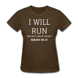 Isaiah 40:31 Women's T-Shirt - brown