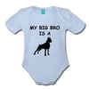 BIG BRO Organic Short Sleeve Baby Bodysuit - sky