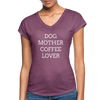 Dog Mother Coffee Lover - heather plum