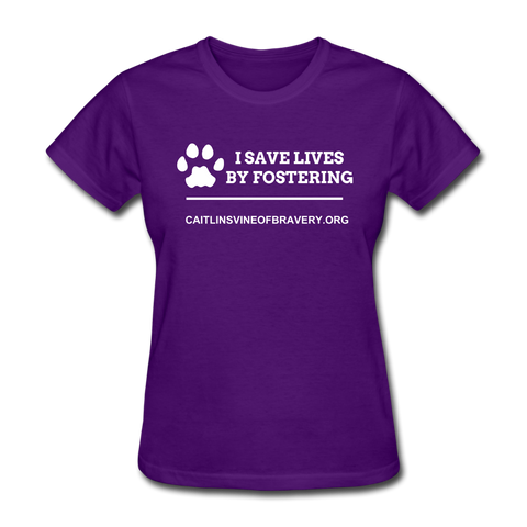 I save lives by fostering Women's T-Shirt - purple