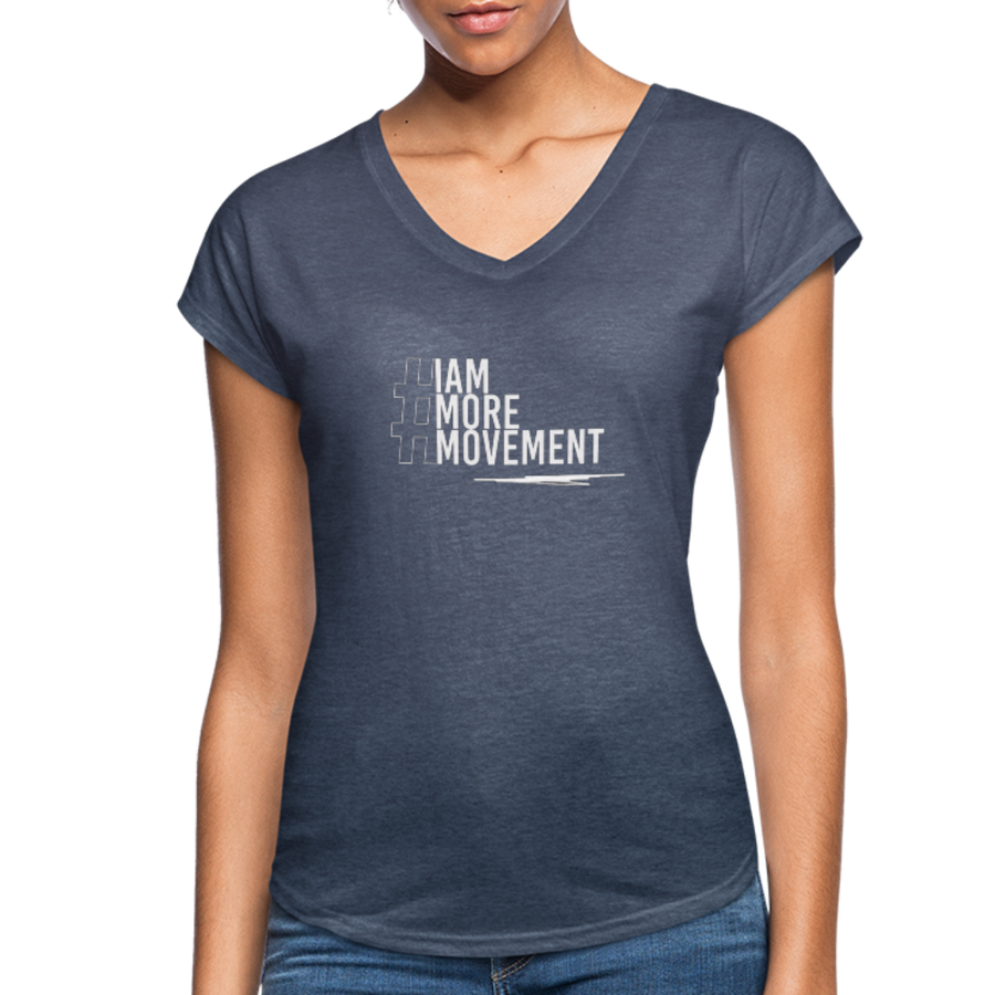 I Am More Women's Tri-Blend V-Neck T-Shirt