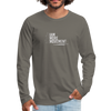 I Am More Men's Premium Long Sleeve T-Shirt - asphalt gray