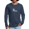 I Am More Men's Premium Long Sleeve T-Shirt - navy