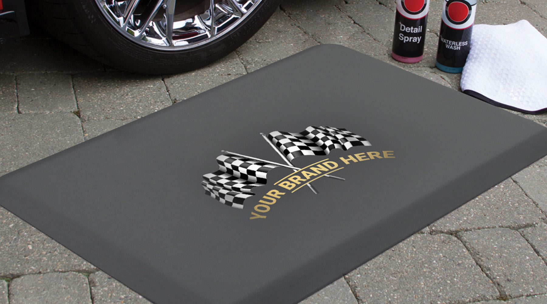 Example of custom branding of a Smart Step Premium Performance Mat
