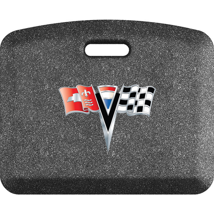 Smart Step Premium Standing Solution w/ C2 Corvette Logo - Mosaic Steel