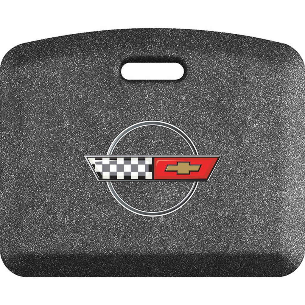 Smart Step Premium Standing Solution w/ C4 Corvette Logo (multiple sizes & colors)