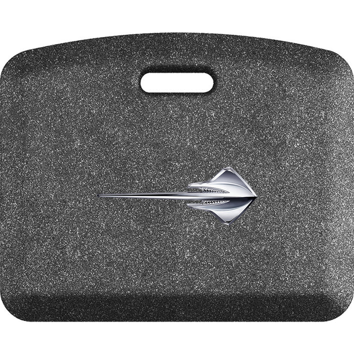 Smart Step Premium Standing Solution w/ C7 Corvette Stingray Horizontal Logo - Mosaic Steel