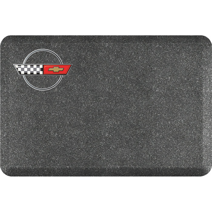 Smart Step Premium Standing Solution w/ C4 Corvette Logo - Mosaic Steel