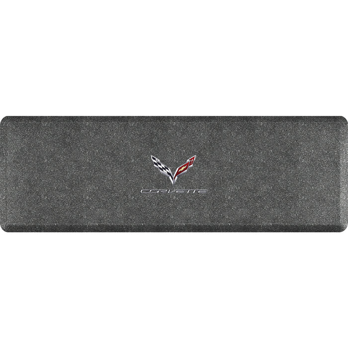 Smart Step Premium Standing Solution w/ C7 Corvette Crossflags Logo (multiple sizes & colors)