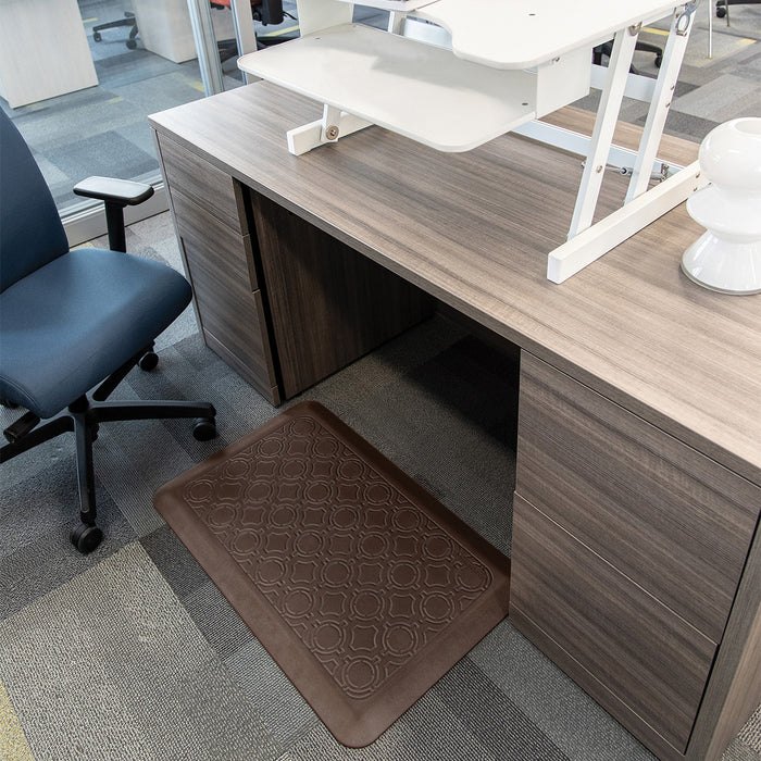 Smart Step Stand Smart Standing Desk Mat - Chestnut