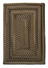 Ridgevale RV60 Grecian Green Braided Wool Rug by Colonial Mills