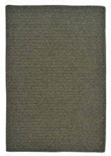Courtyard CY51 Olive Braided Wool Rug by Colonial Mills