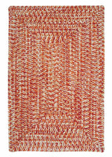 Catalina CA79 Fireball Red Braided Indoor Outdoor Rug by Colonial Mills