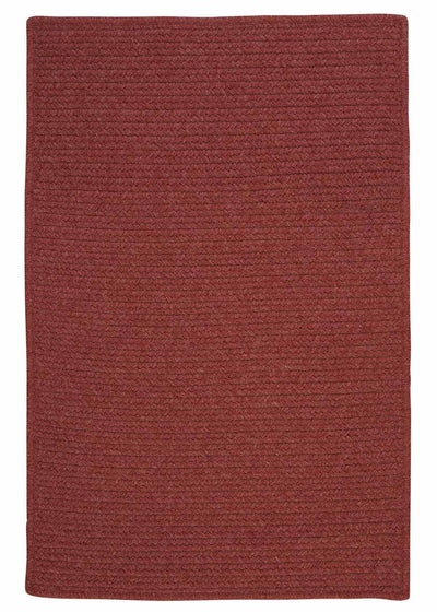 Westminster WM70 Rosewood Braided Wool Rug by Colonial Mills
