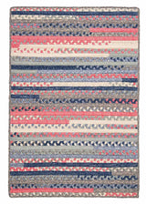 Print Party - Rects PY79 Crushed Coral Transitional Rug by Colonial Mills
