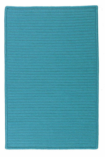 Simply Home Solid H049 Turquoise Indoor/Outdoor Ultra Durable Rug by Colonial Mills