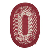 Jackson JK20 Red Braided Wool Rug by Colonial Mills