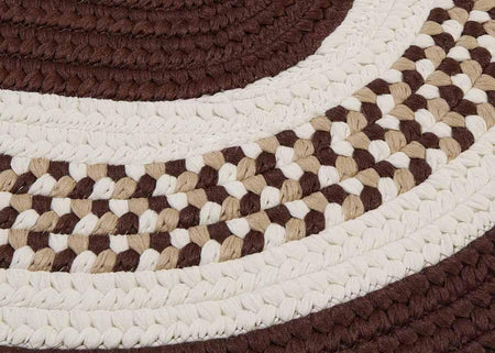Flowers Bay FB81 Brown Braided Kids Rug by Colonial Mills - Select Area Rugs